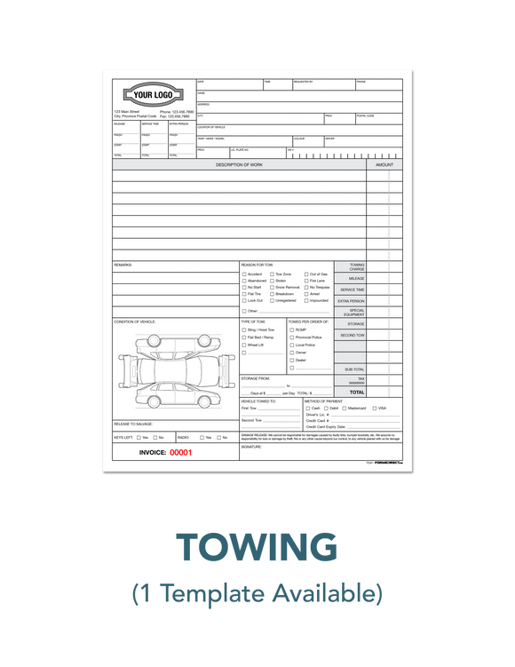 Towing Invoice Receipt Authorization