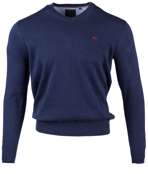 Valencia Vee Neck Sweater - Navy