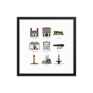Landmarks Collection Framed Portrait - The Nutria Rodeo Trading Co.