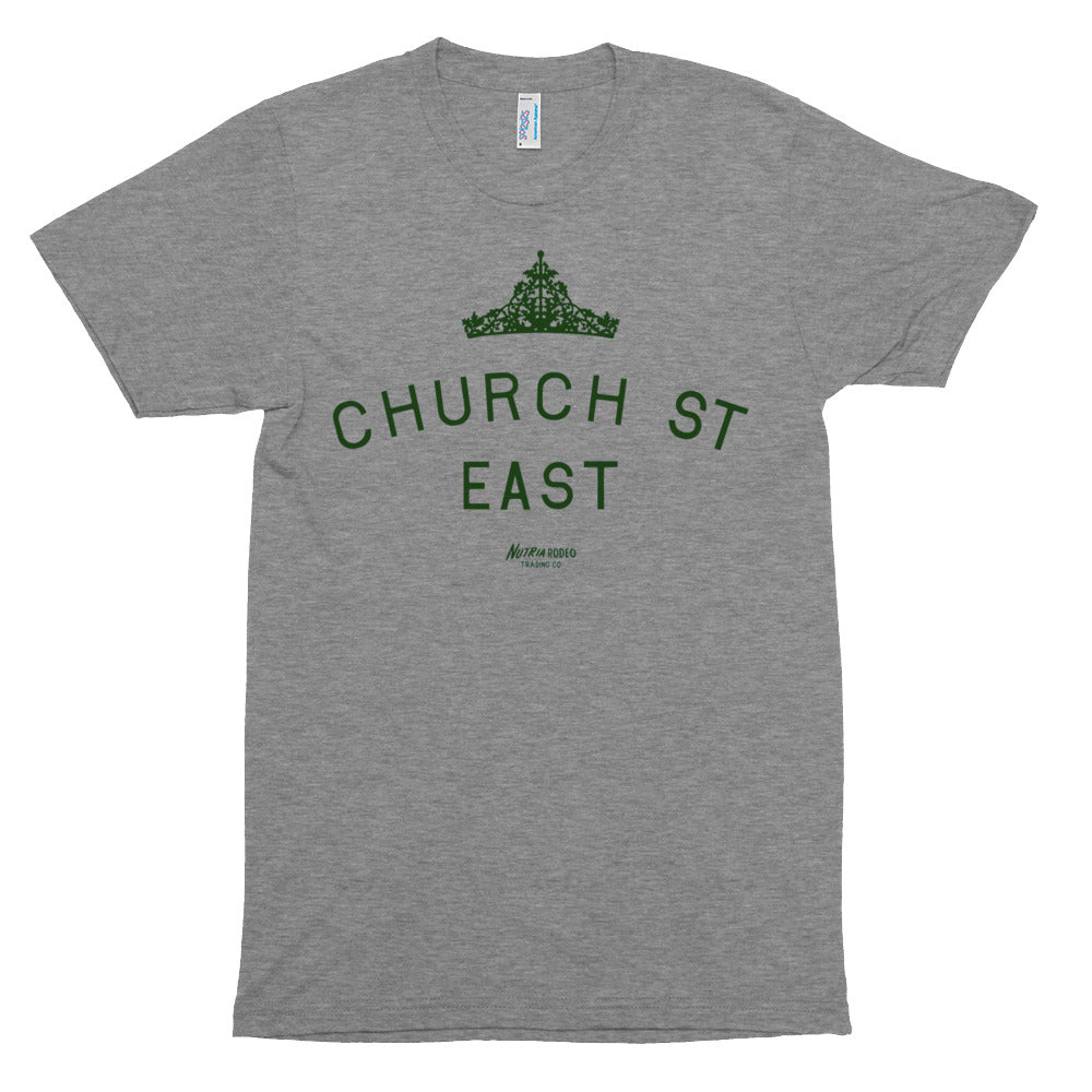 Church St East T-shirt - The Nutria Rodeo Trading Co.