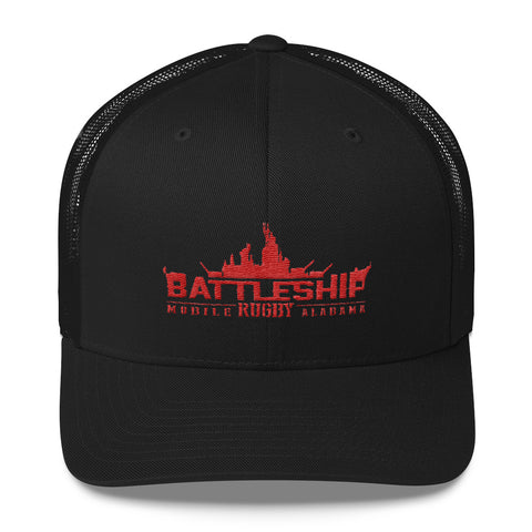 Battleship Rugby Trucker Cap - The Nutria Rodeo Trading Co.