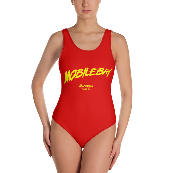 Mobile Bay Watch One-Piece Swimsuit - The Nutria Rodeo Trading Co.