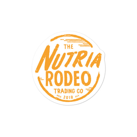 Nutria Rodeo Trading Co. Logo Sticker - The Nutria Rodeo Trading Co.