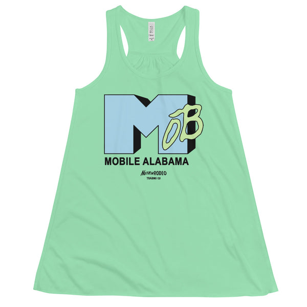 Women's I Want My MOB I Flowy Racerback Tank - The Nutria Rodeo Trading Co.