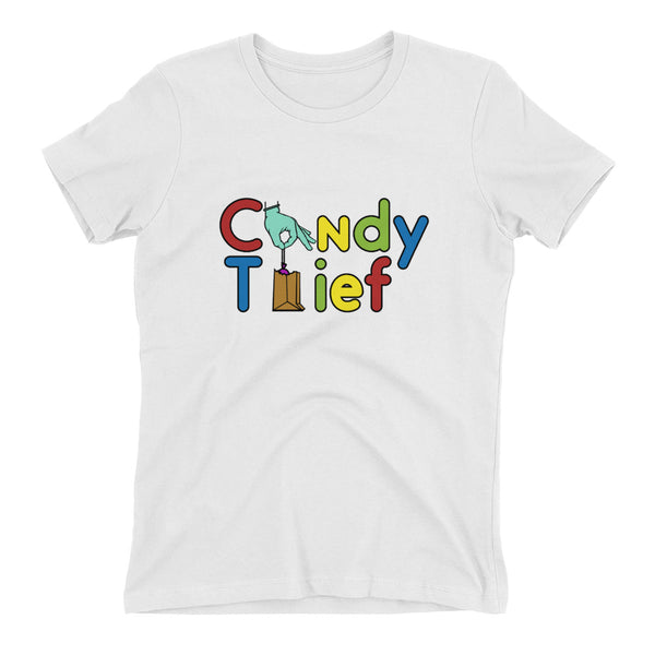 Candy Thief Women's t-shirt - The Nutria Rodeo Trading Co.