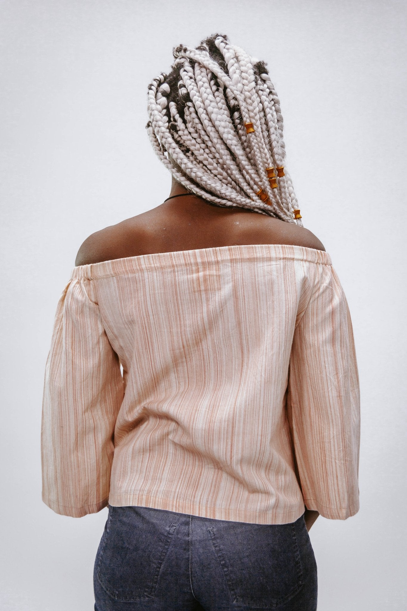 Alleyppey Light Pink Stripes - Top - Azaadi, la mode responsable accessible