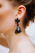 BI Black - Silver Flower - Boucles d'oreilles - Azaadi, la mode responsable accessible