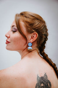 Blue Doll - Boucles d'oreilles - Azaadi, la mode responsable accessible