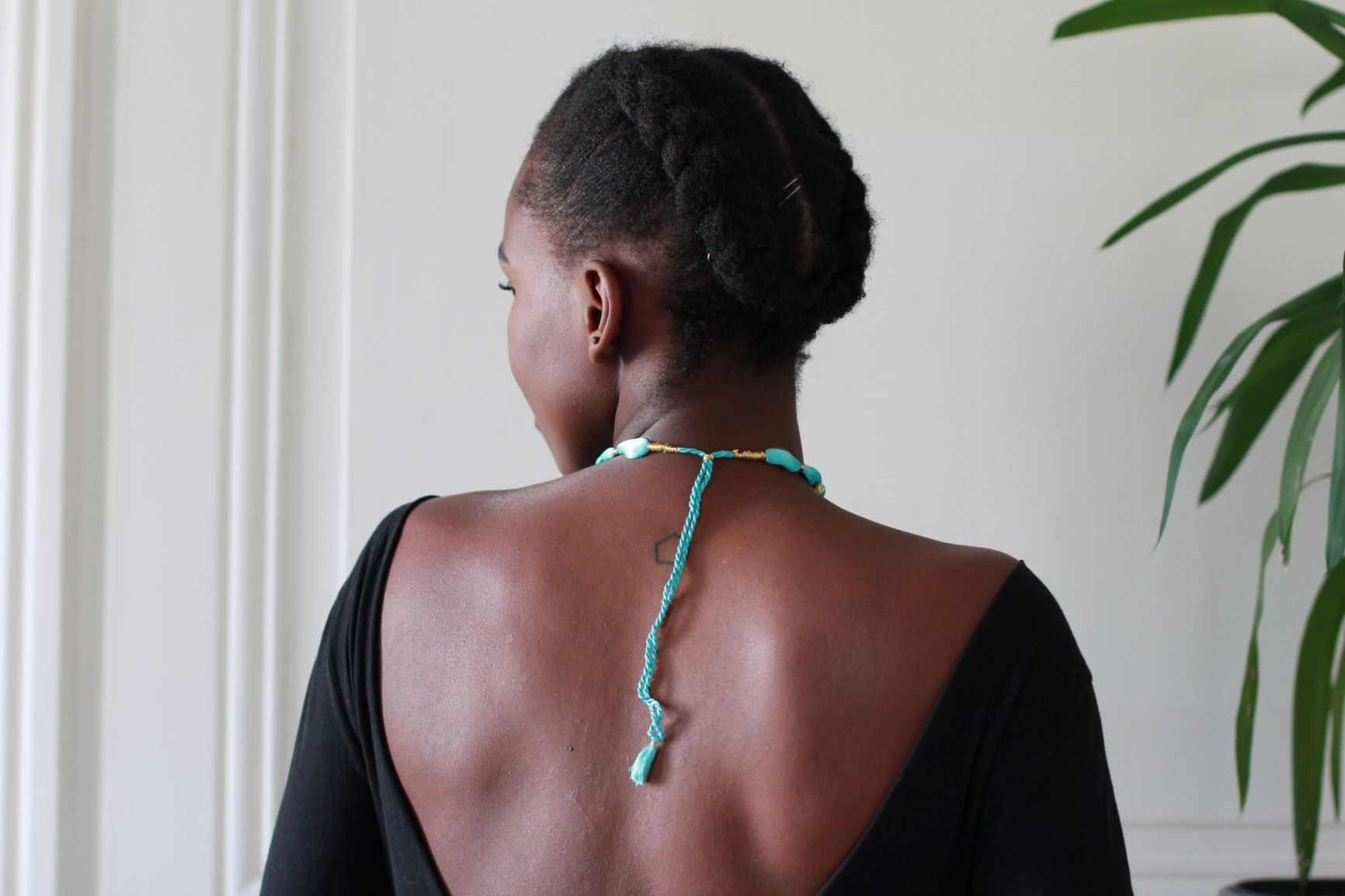 Collier en soie Bleu ciel - Collier - Azaadi, la mode responsable accessible
