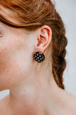 Indian Wheel Black - Silver - Boucles d'oreilles - Azaadi, la mode responsable accessible