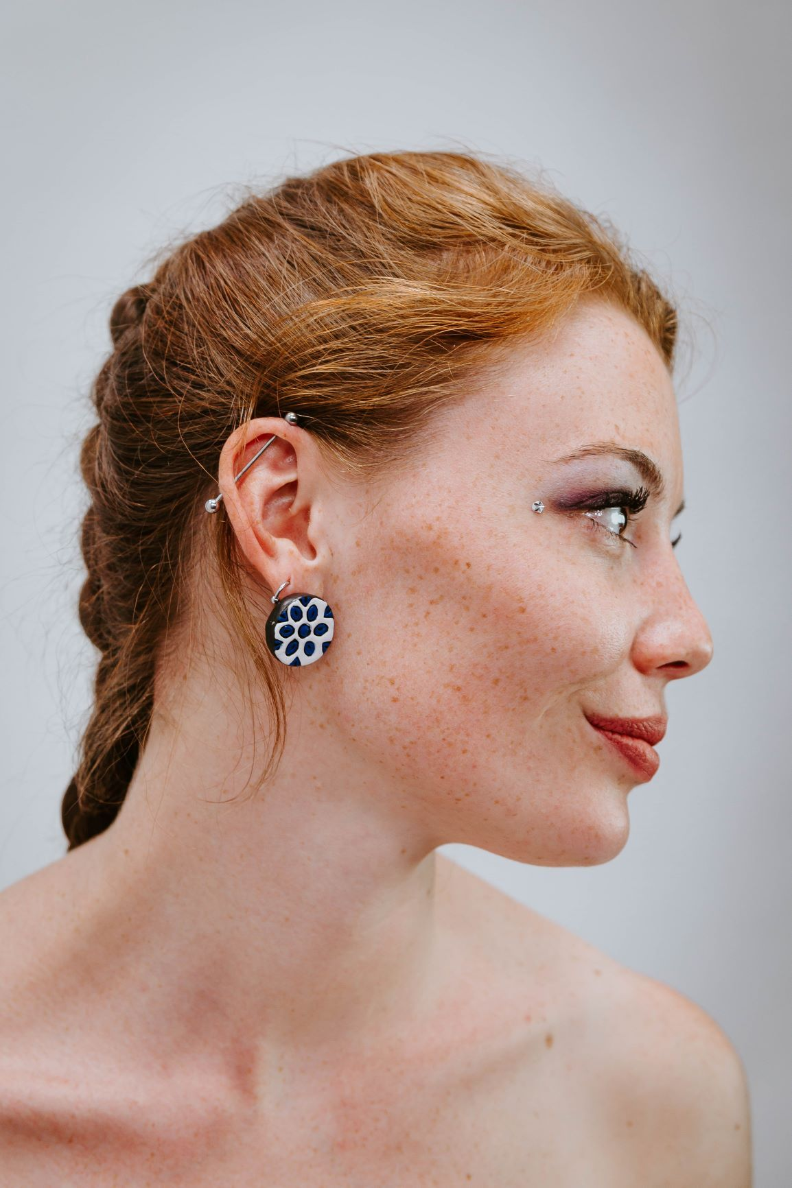 Indian Wheel Turquoise - White - Boucles d'oreilles - Azaadi, la mode responsable accessible