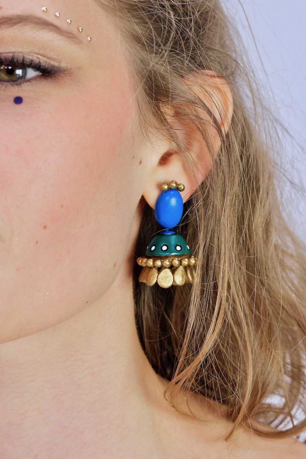 Royal Peacock - Boucles d'oreilles - Azaadi, la mode responsable accessible