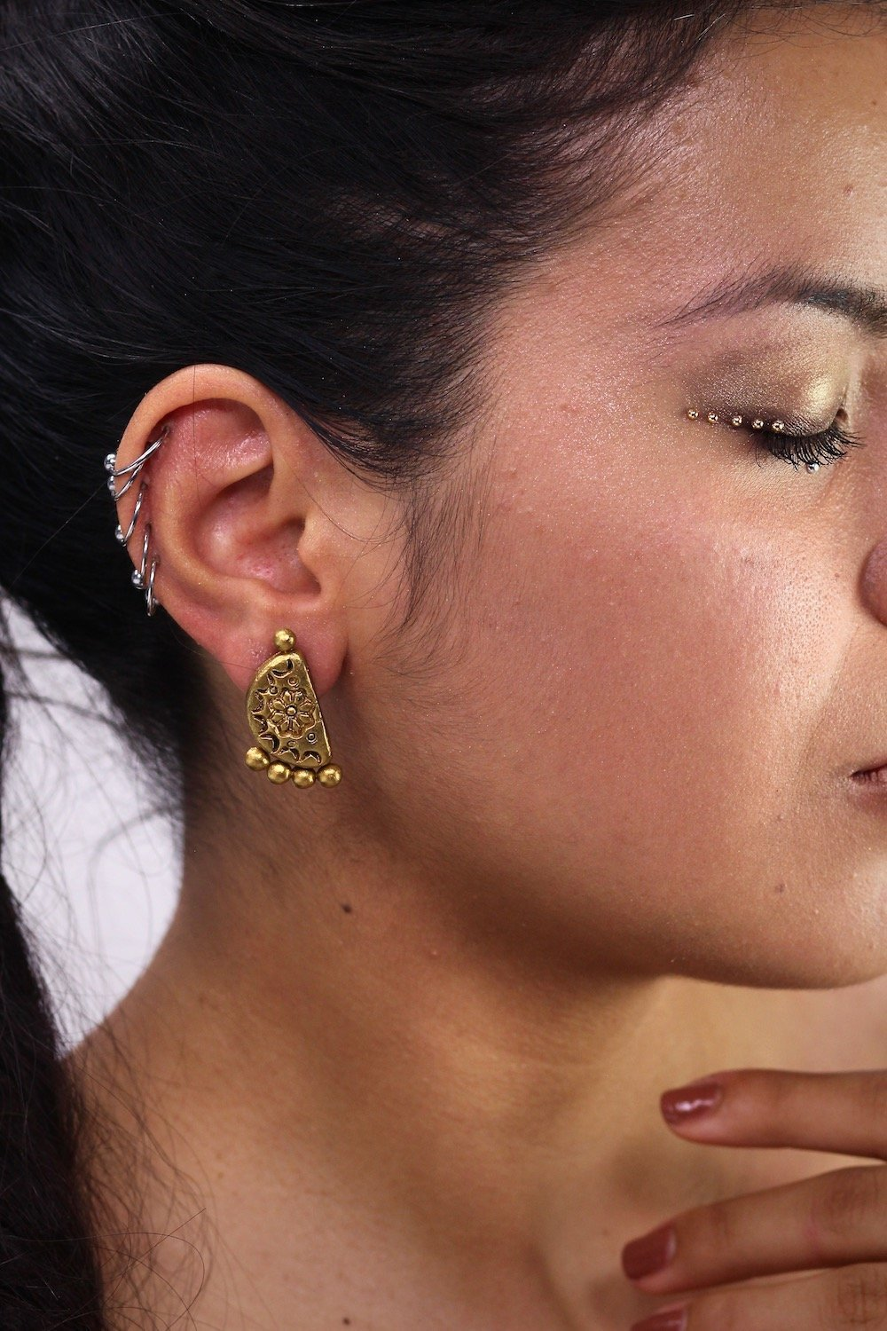Semi Gold - Boucles d'oreilles - Azaadi, la mode responsable accessible