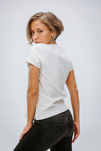Sheo Wild White - Top - Azaadi, la mode responsable accessible