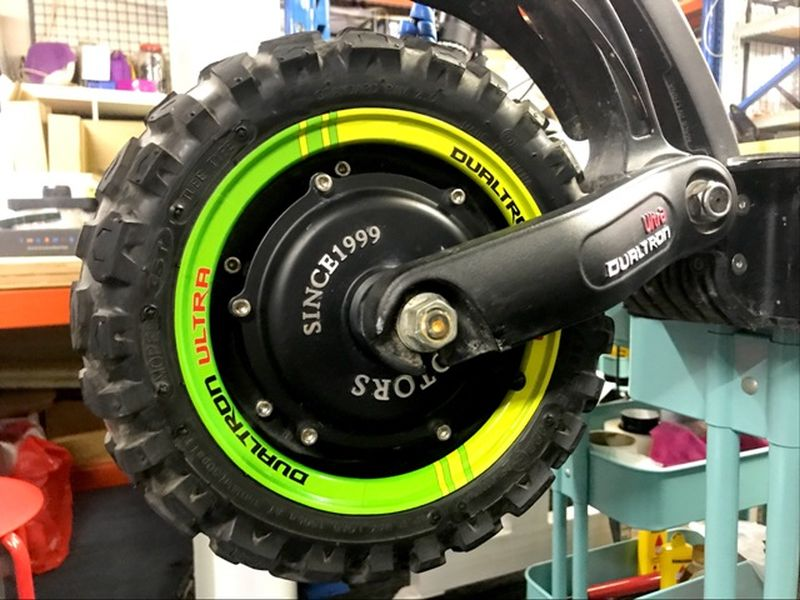 Carbonrevo Rim Stickers Dualtron Green