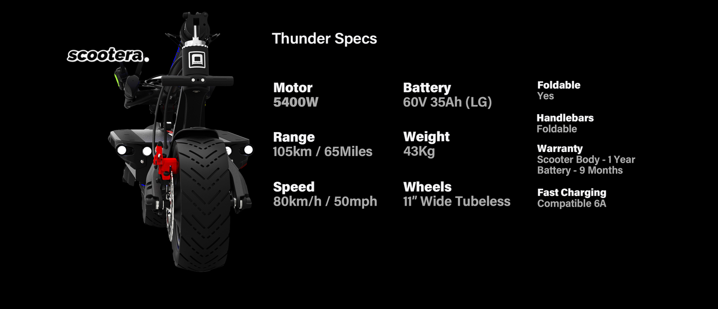 dualtron thunder specification motor power battery speed range scootera.uk