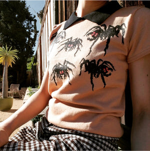 SPIDERS COLLAR SWEATER *BLACK/TAN