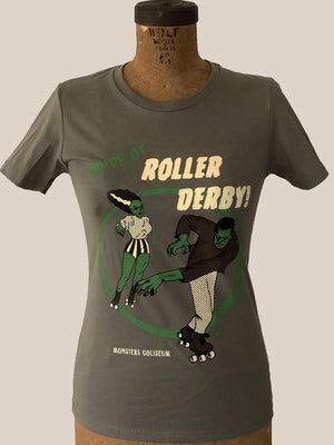 BRIDE OF ROLLER DERBY TEE *WARM GRAY
