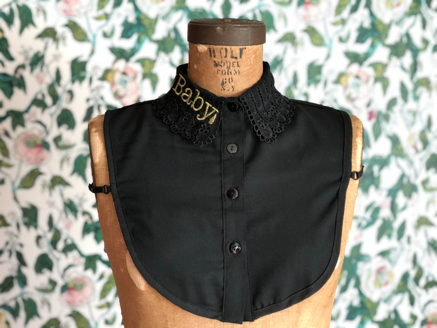 """CRY BABY"" DETACHABLE COLLAR *BLACK"
