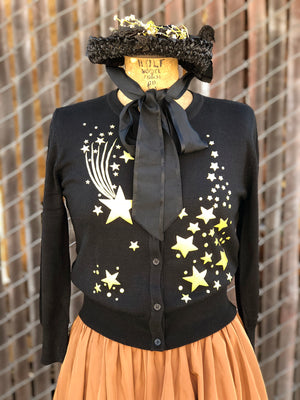 SHOOTING STAR CARDIGANS *BLACK