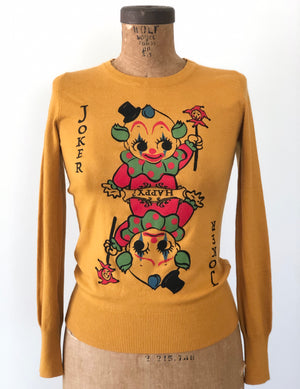JOKER LONG SLEEVE SWEATER *MUSTARD
