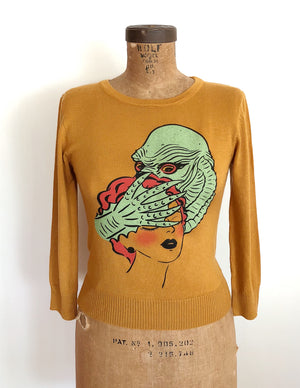 RAGOON MONSTER SWEATER *MUSTARD