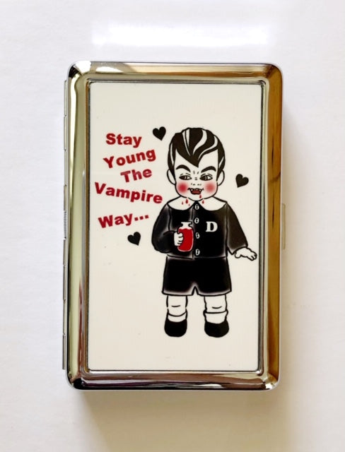 STAY YOUNG THE VAMPIRE WAY CARD CASE