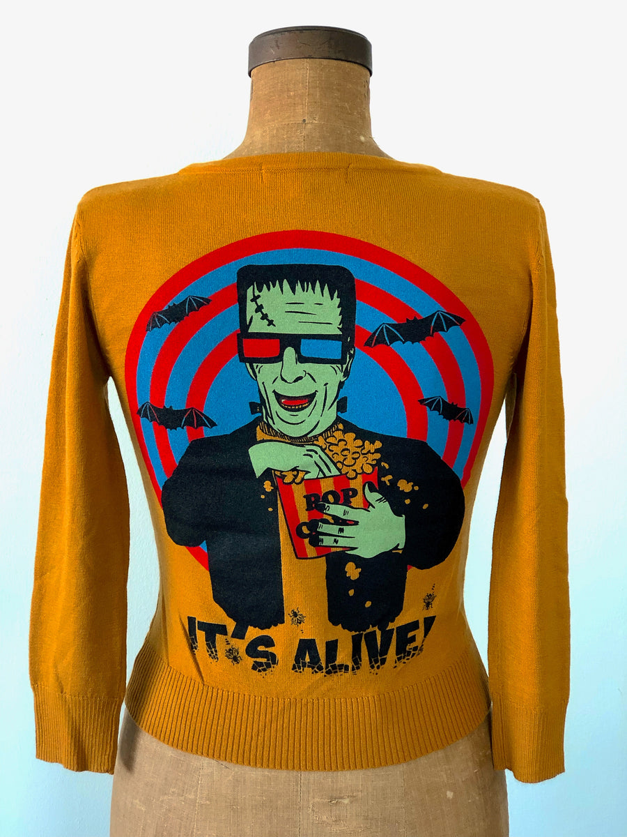 IT'S ALIVE! SWEATER *MUSTARD