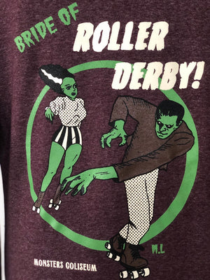 *UNISEX* BRIDE OF ROLLER DERBY PULLOVER HOODIES *PURPLE