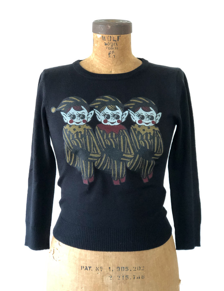 PIXIES SWEATER *BLACK