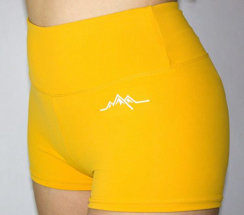 Booty Scrunch Shorts - Yellow