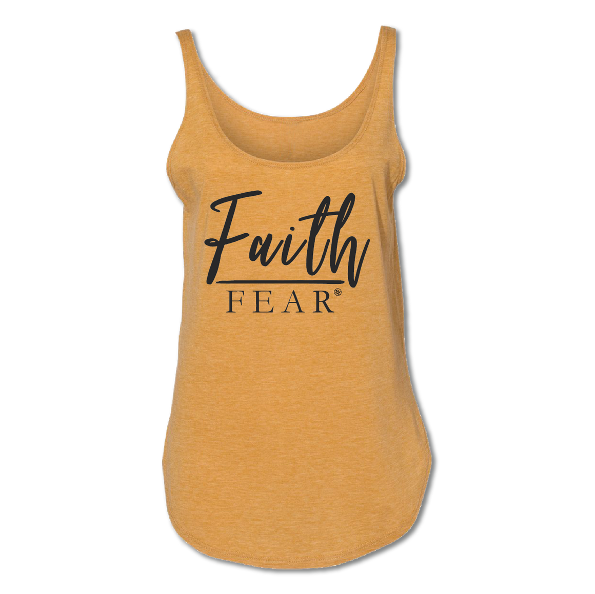 Faith over Fear Tank - Antique Gold - Women's Tank