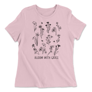 Bloom With Grace - Pink - Women's Tee