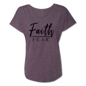 Faith Over Fear - Vintage Purple -  Women's Tee