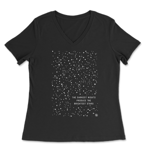 The Darkest Night - Black - Women's V-Neck Tee