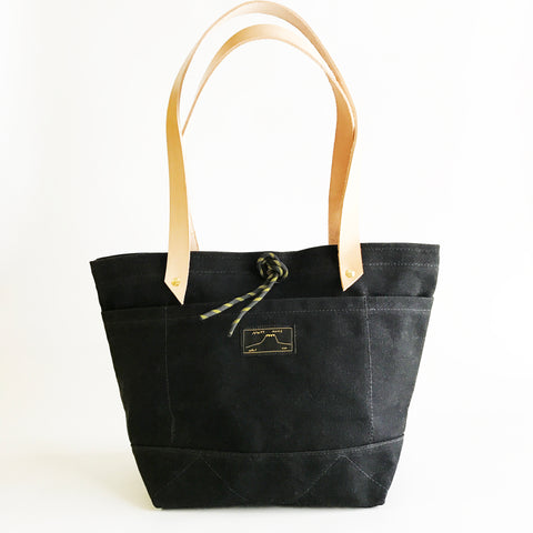 Mt.Mpls tote in black waxed canvas