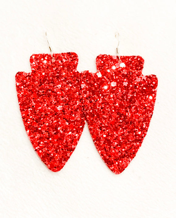Chiefs Glitter Arrowhead Earring