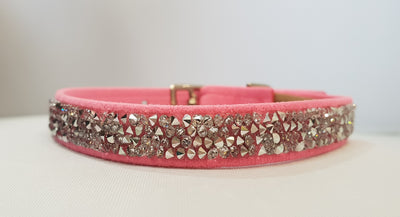 "Crystal Rock Microsuede 1/2"" Collar"