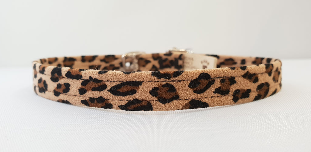 "Cheetah Microsuede 1/2"" Collar"