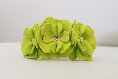 "Flower Microsuede 1/2"" Collar"