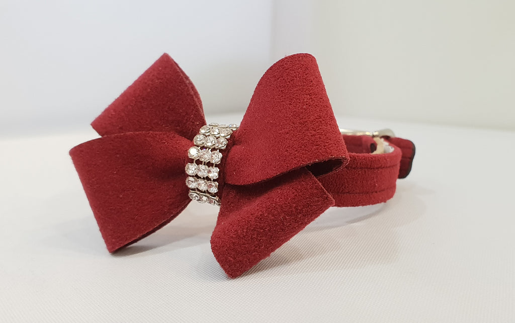 "New Bow Microsuede 1/2"" Collar"