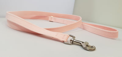 "Pink PU Microsuede 1/2"" x 4' Leash - Plain"