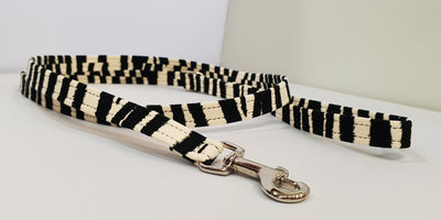 "Zebra Microsuede 1/2"" x 4' Leash - Plain"