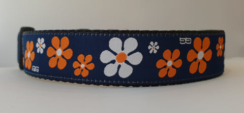 Valencia Orange Fabric Collar