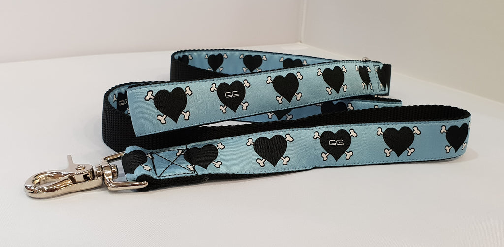 Dog Patch Blue Fabric Leash
