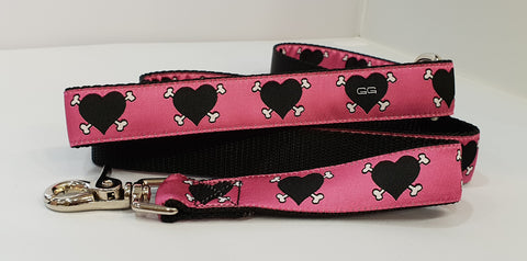 Dog Patch Pink Fabric Leash