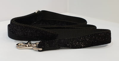 Glam Noir Black Fabric Leash