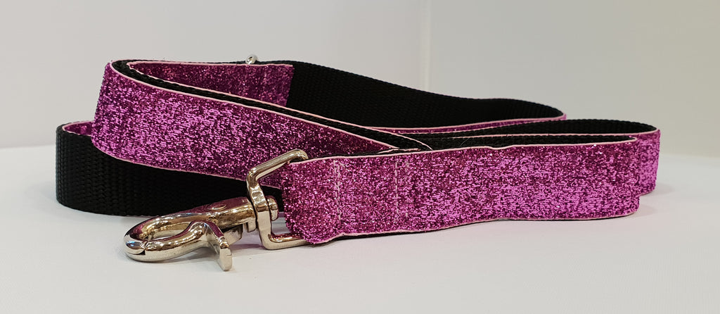 Glam Pink Fabric Leash