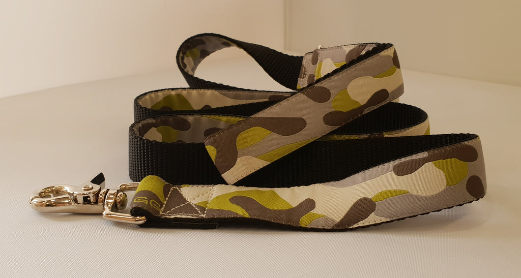 Presidio Green Fabric Leash
