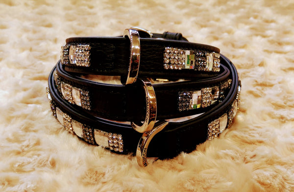 Malucchi Gala Black Leather Collar